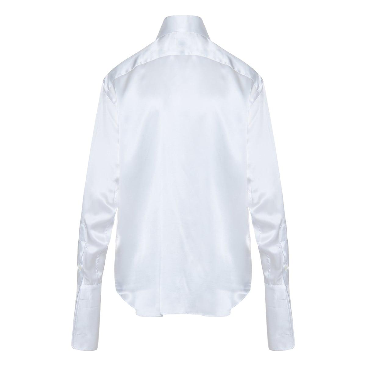 Signature oversized silk shirt