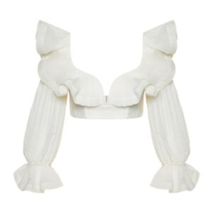 Lovestruck ruffled cropped top