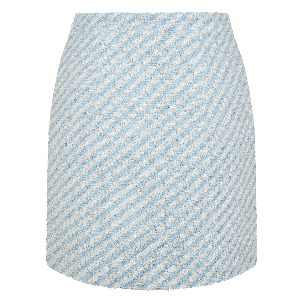 Striped tweed mini skirt