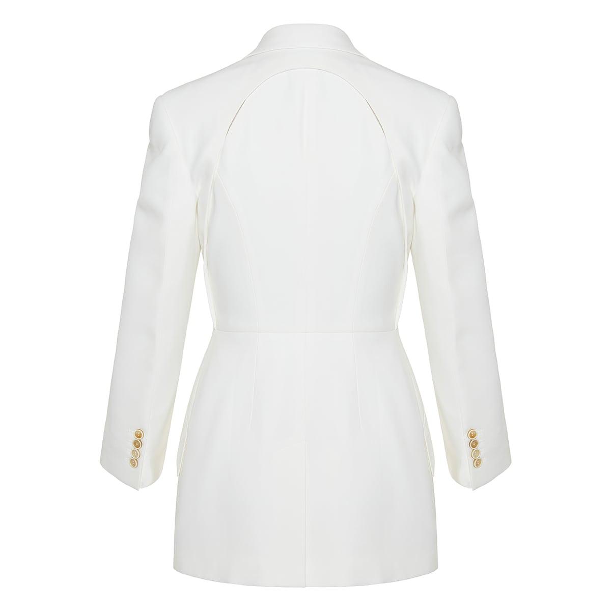 Single-breasted cutout blazer