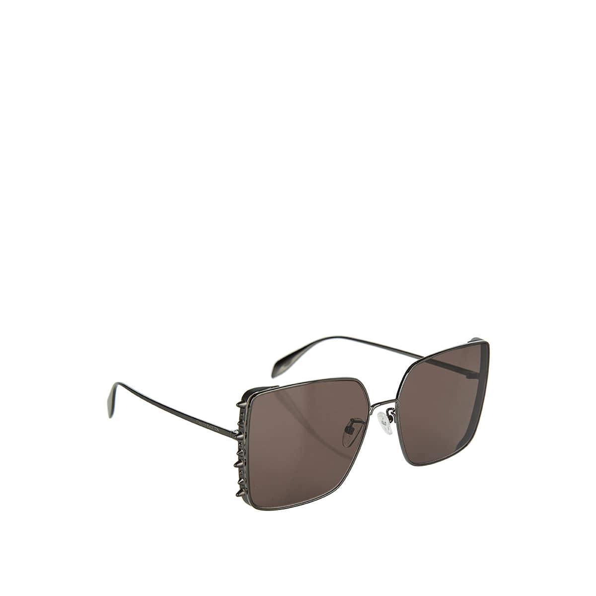 Oversized studded metal sunglasses