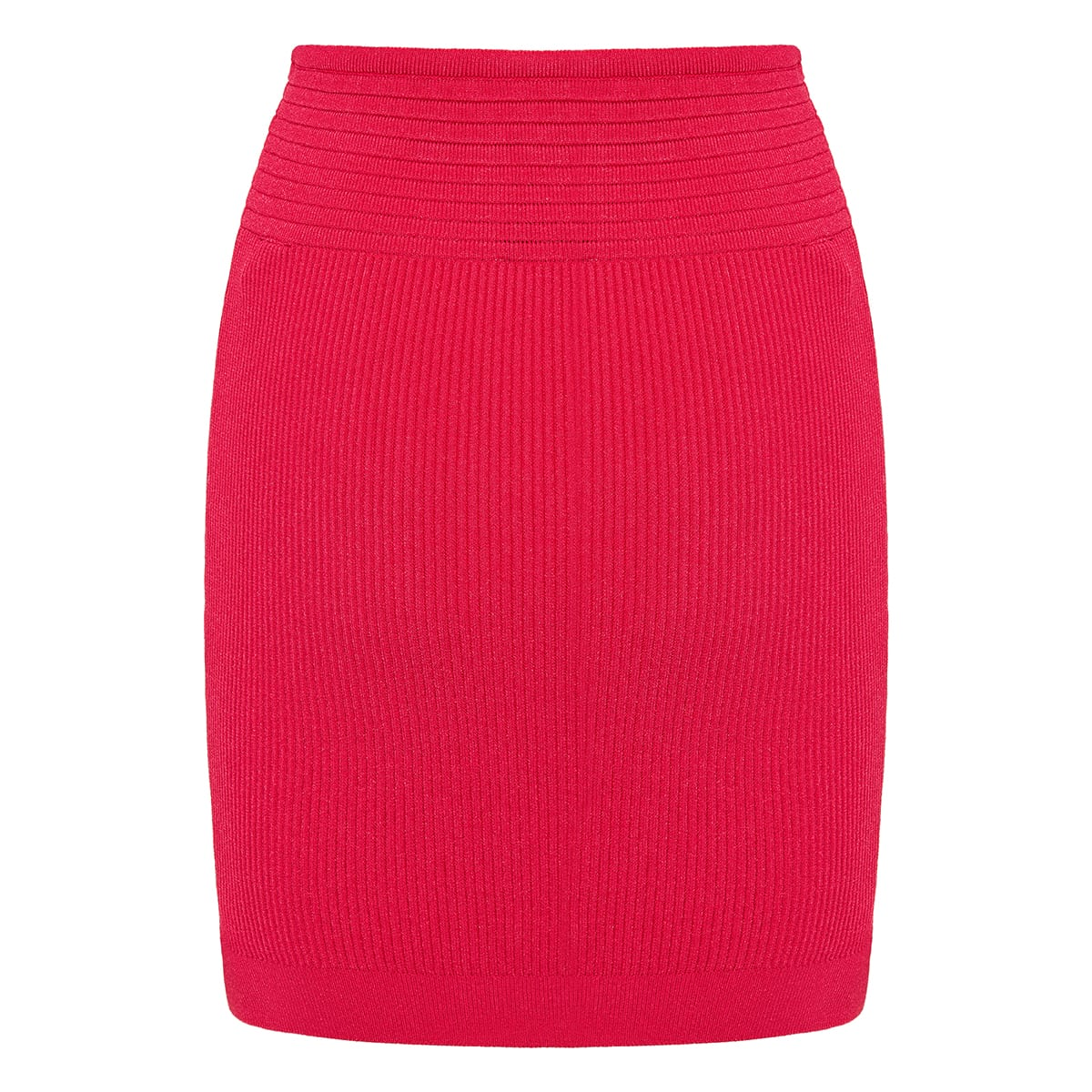Ribbed-knit mini skirt