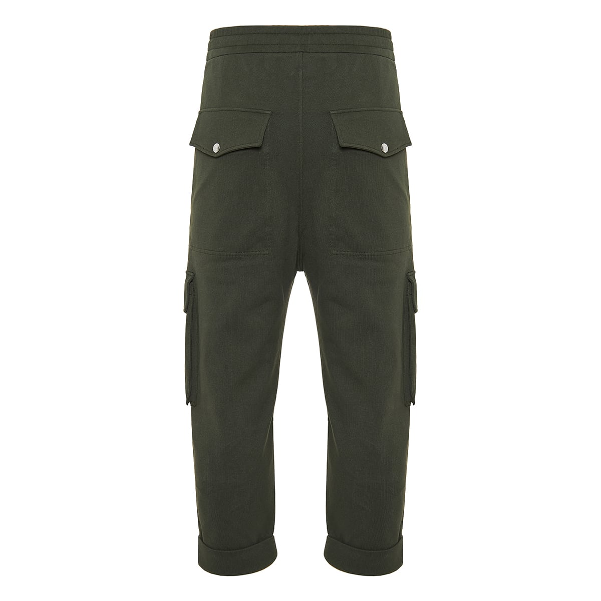 Multi-pocket cropped track trousers