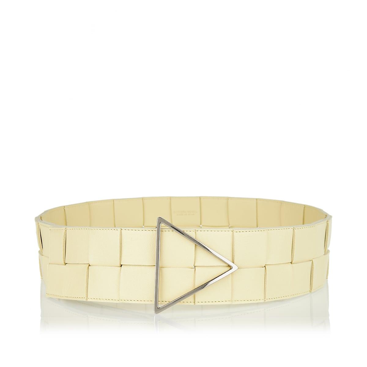 Maxi Intreccio leather belt