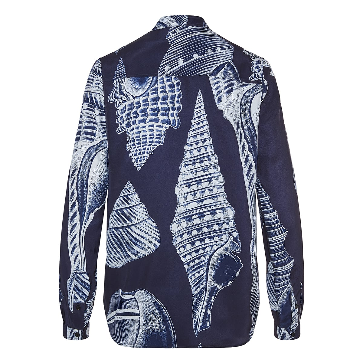 Shell printed silk shirt