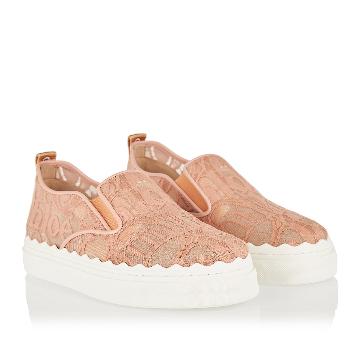 Lauren lace slip-on sneakers