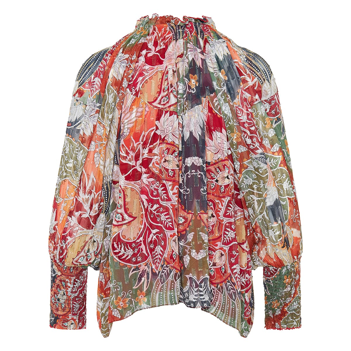 Kan printed gathered blouse