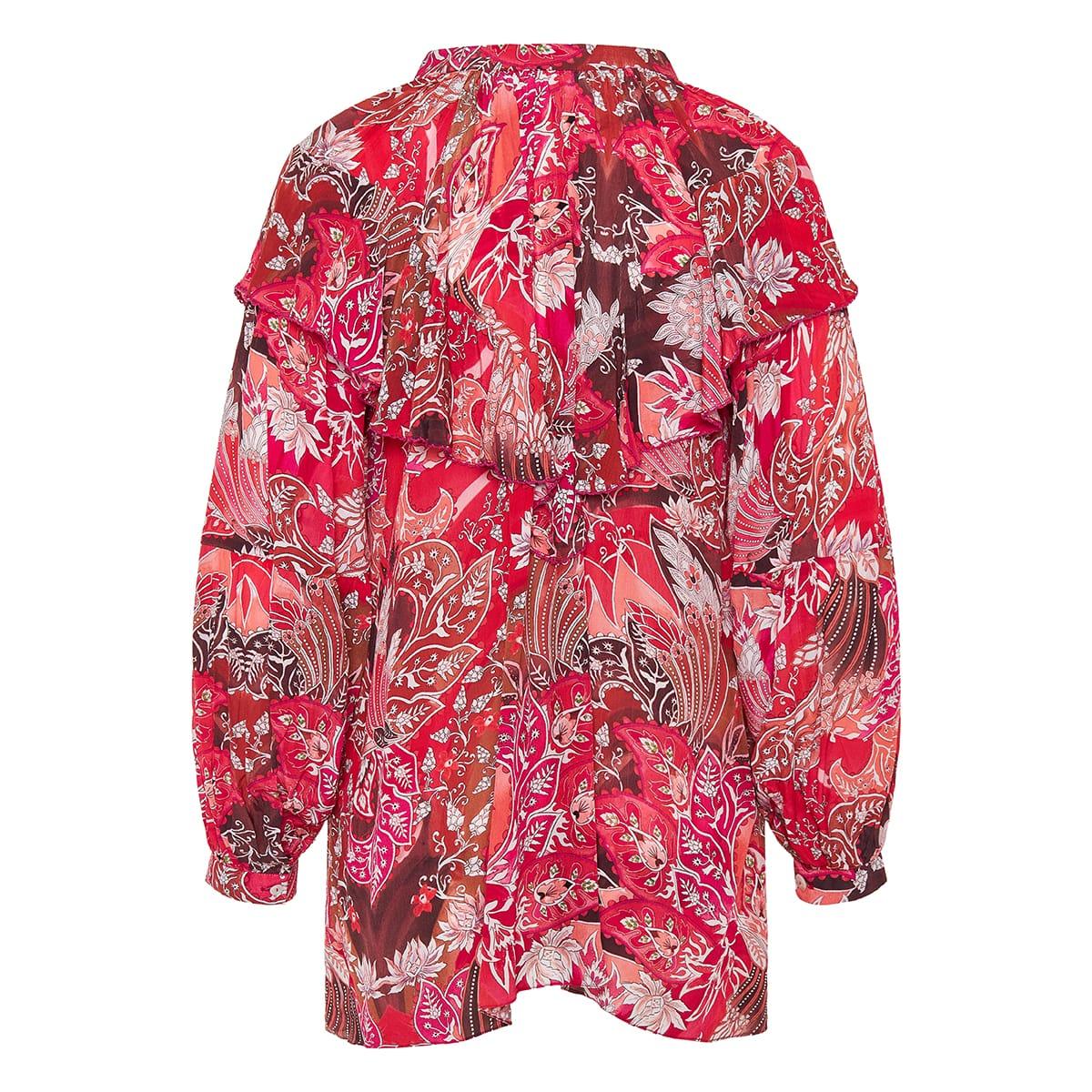 Moe ruffled printed blouse
