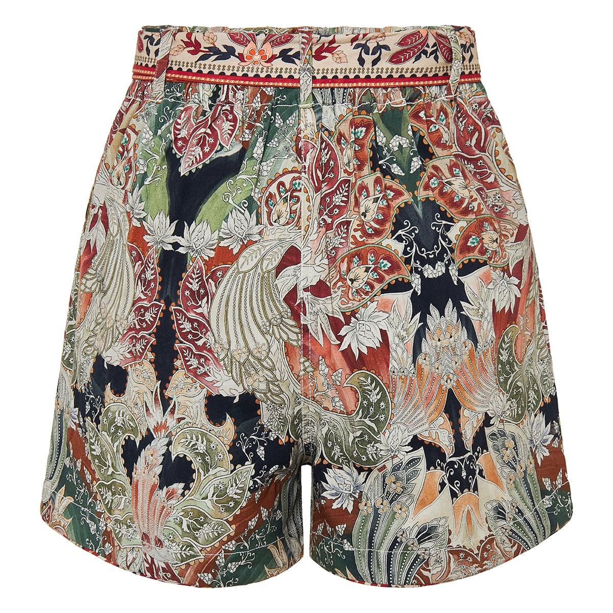 Lwin printed belted shorts