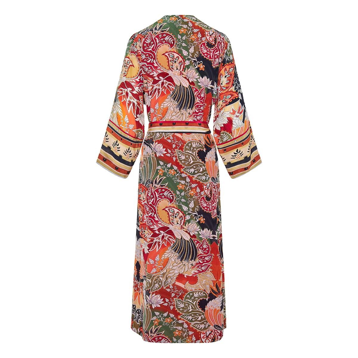 Dampa printed long robe dress