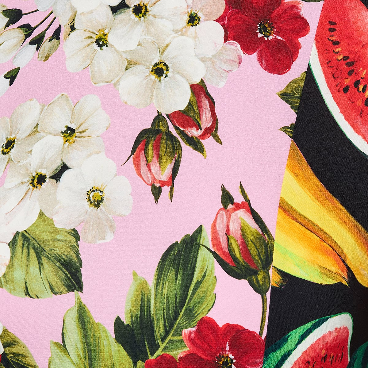 Patchwork-print silk midi dress