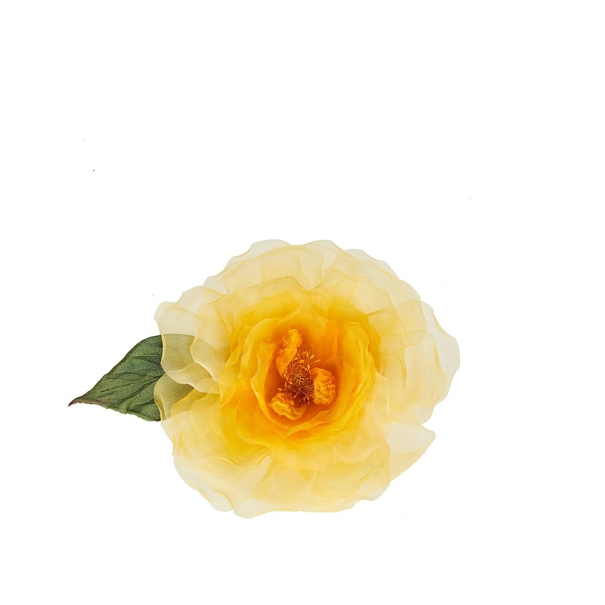 Rose silk and velvet choker
