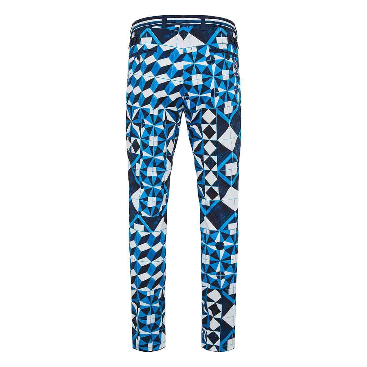 Majolica print cropped cotton trousers