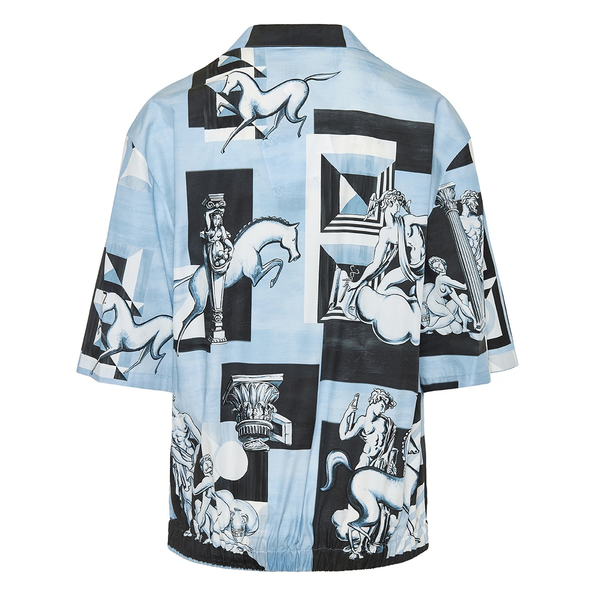 Oversized printed cotton shirt