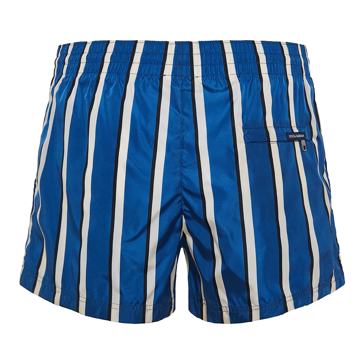 Striped nylon swim shorts