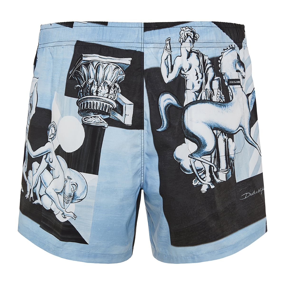 Majolica print cotton shorts