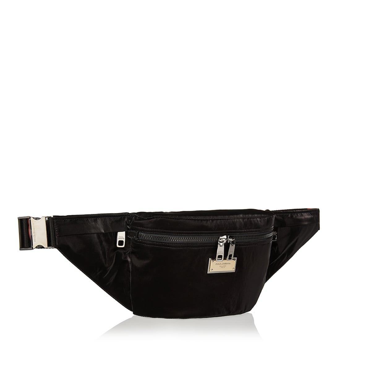 Nero Sicilia DNA nylon belt bag