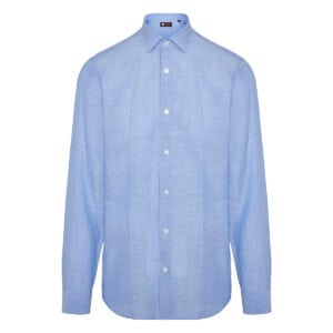 Wool-cotton shirt