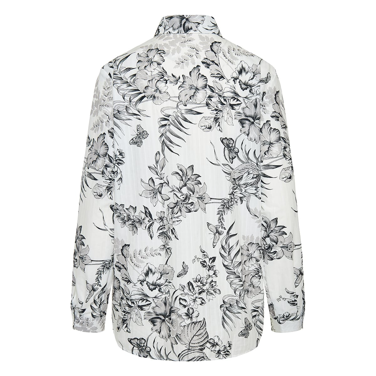 Floral jacquard cotton shirt