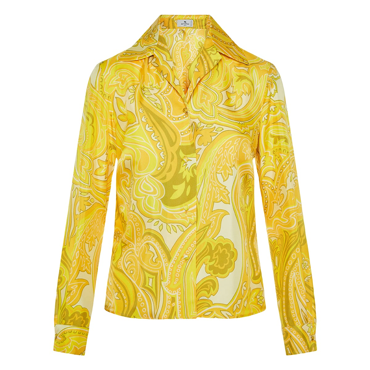 Paisley printed silk shirt