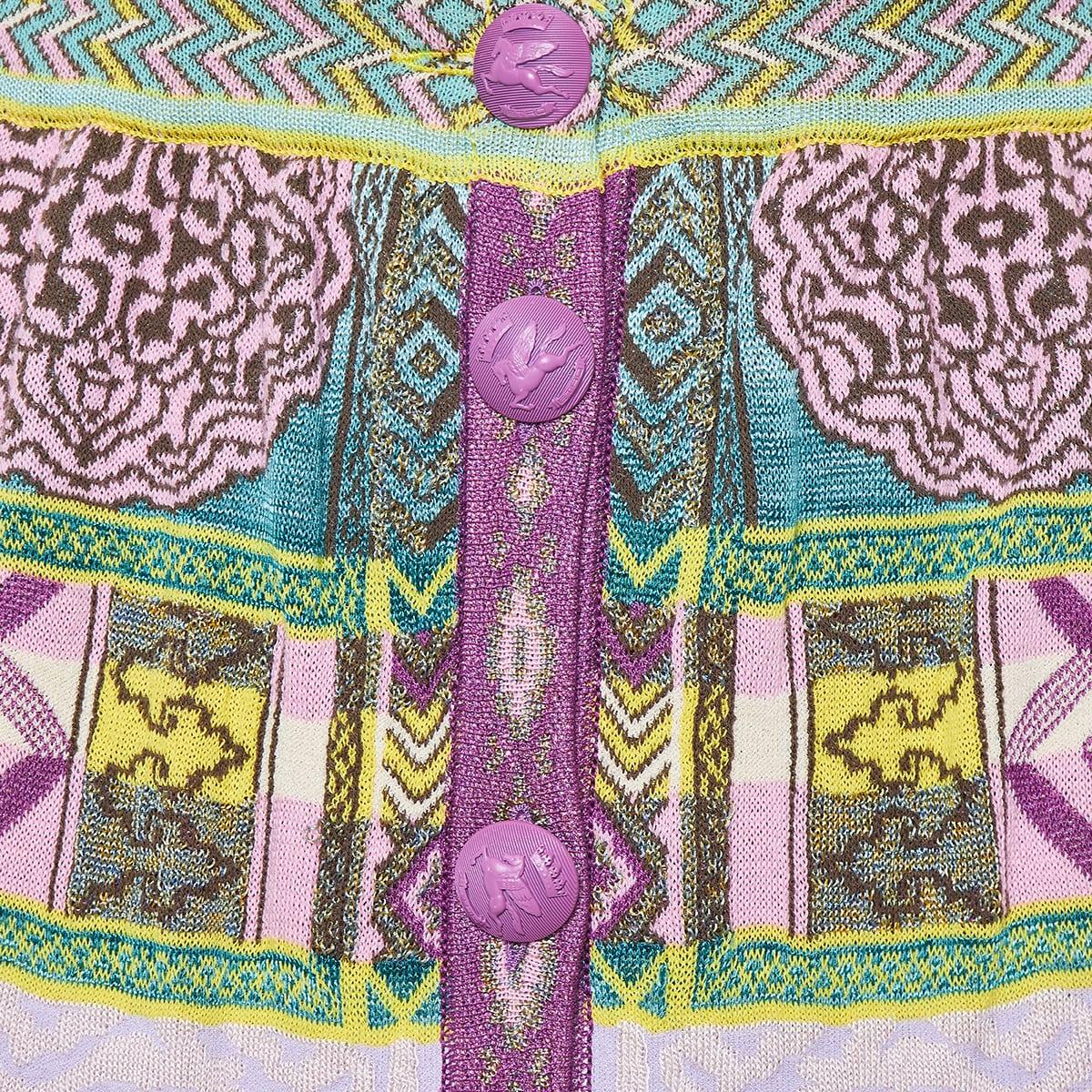 Jacquard-knit patterned pencil skirt