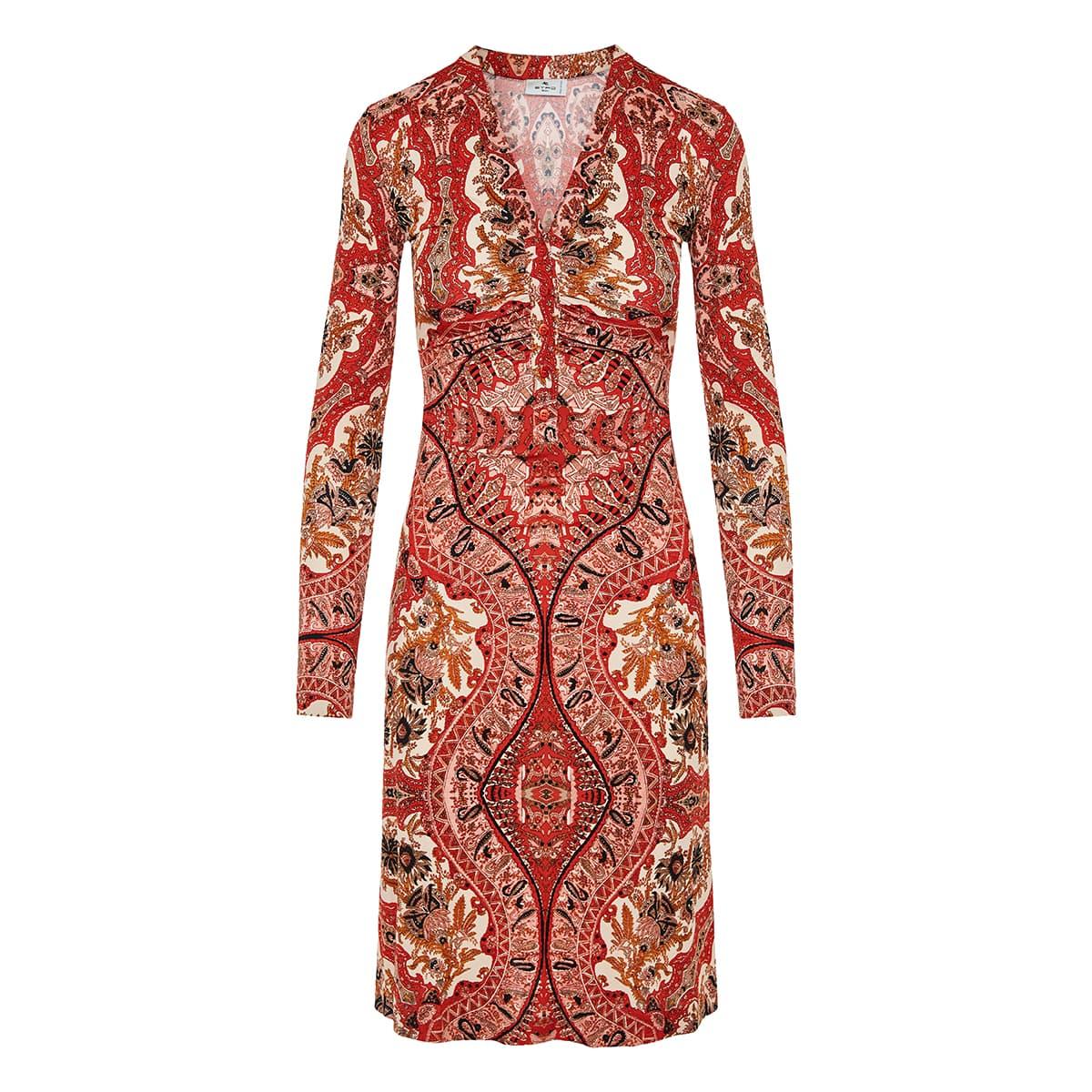 Paisley printed midi dress