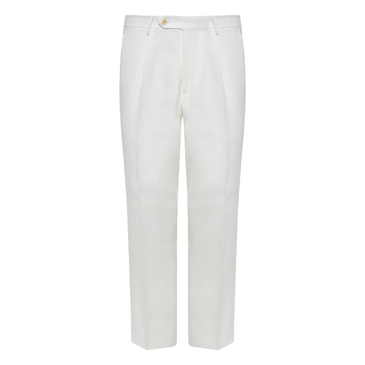 Cropped linen tailored trousers