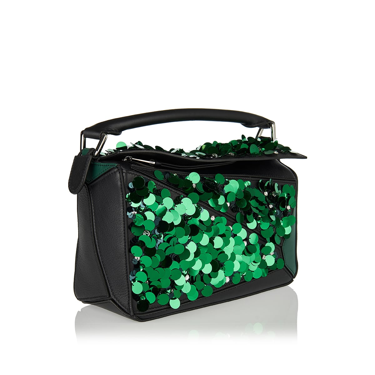 Puzzle small sequin bag