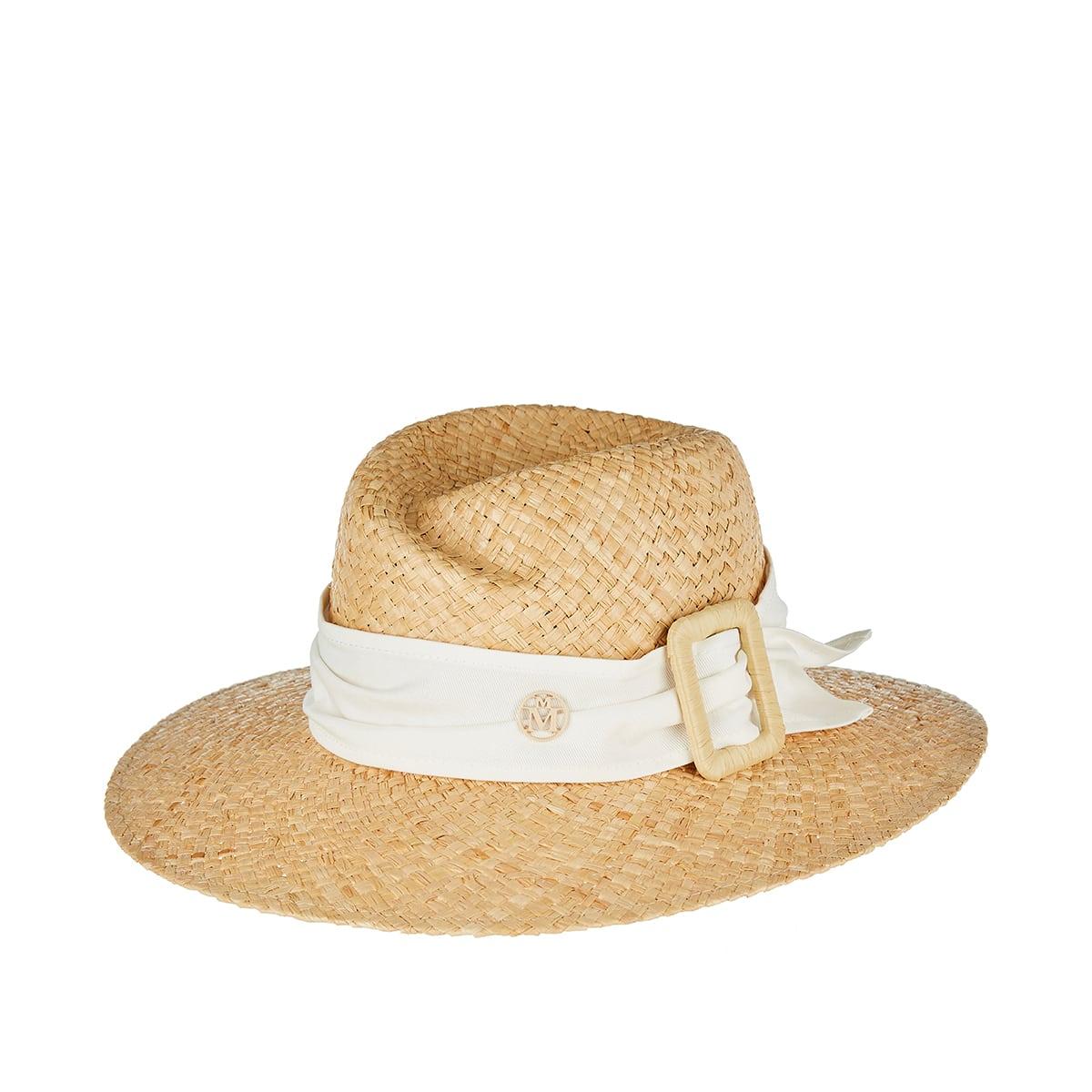 Virginie raffia fedora hat