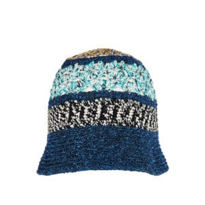 Patterned knit bucket hat
