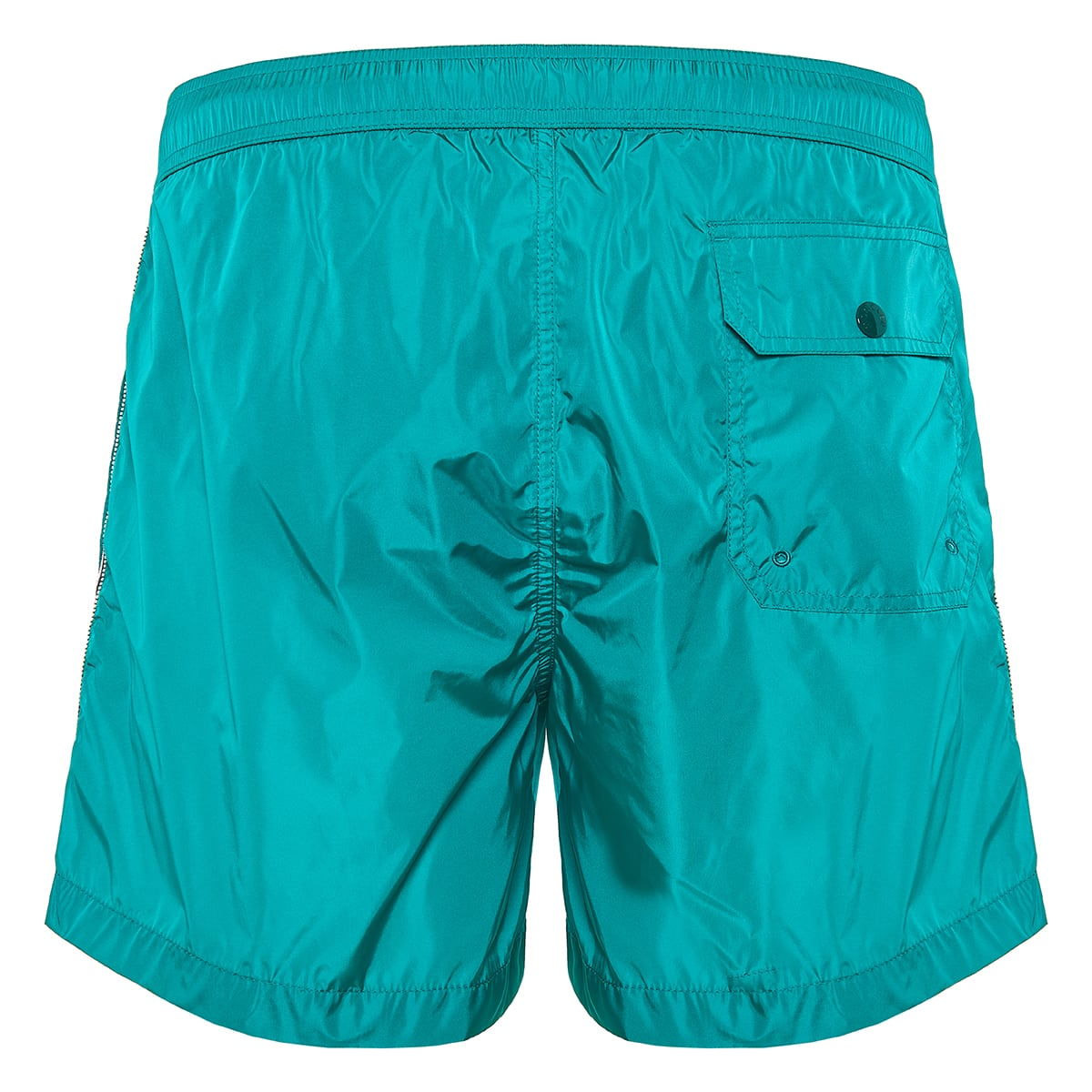 Side-striped swim shorts
