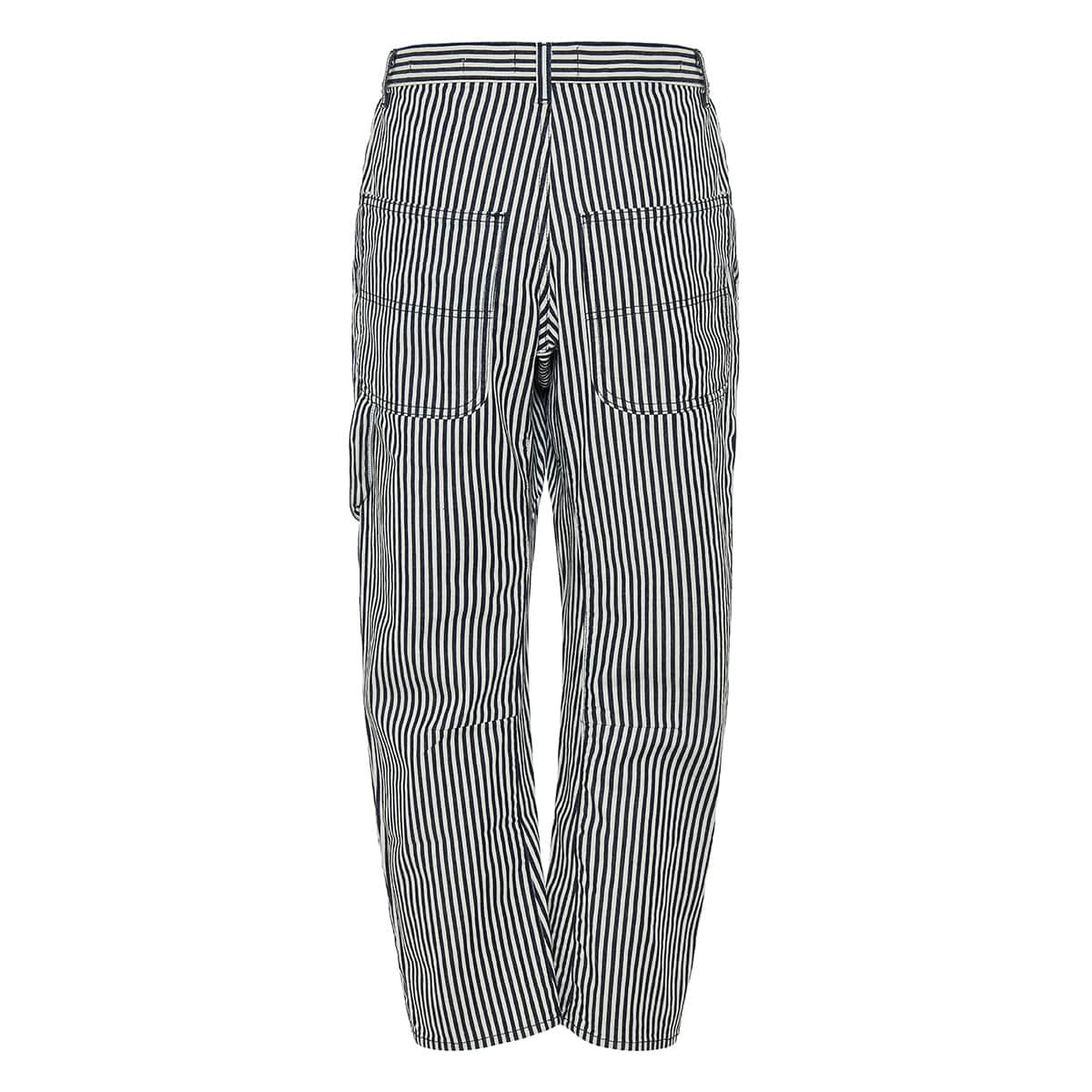 Carpenter striped denim trousers
