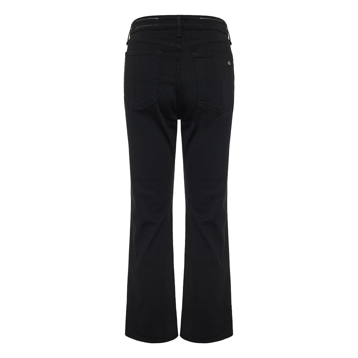 Nina high-waist denim trousers