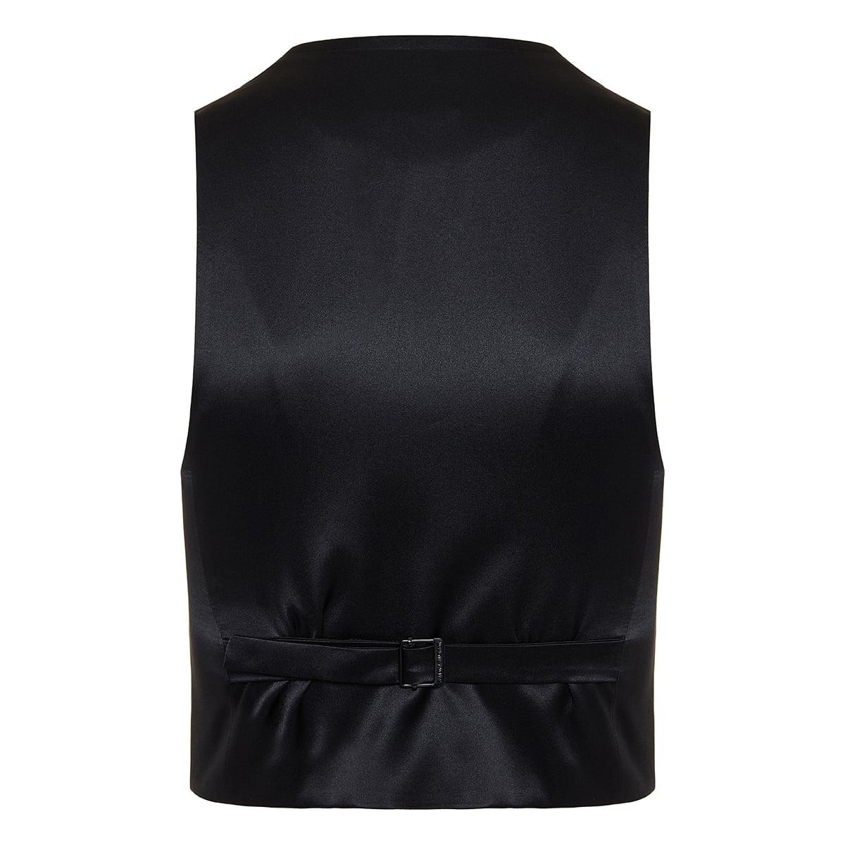 Short tuxedo vest