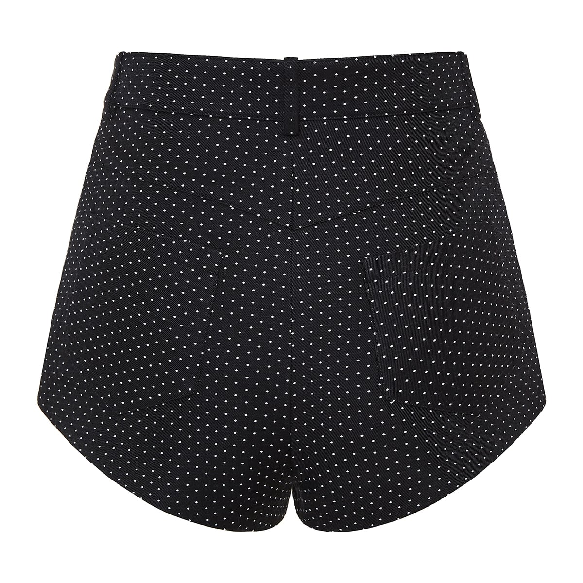 Polka-dot mini shorts