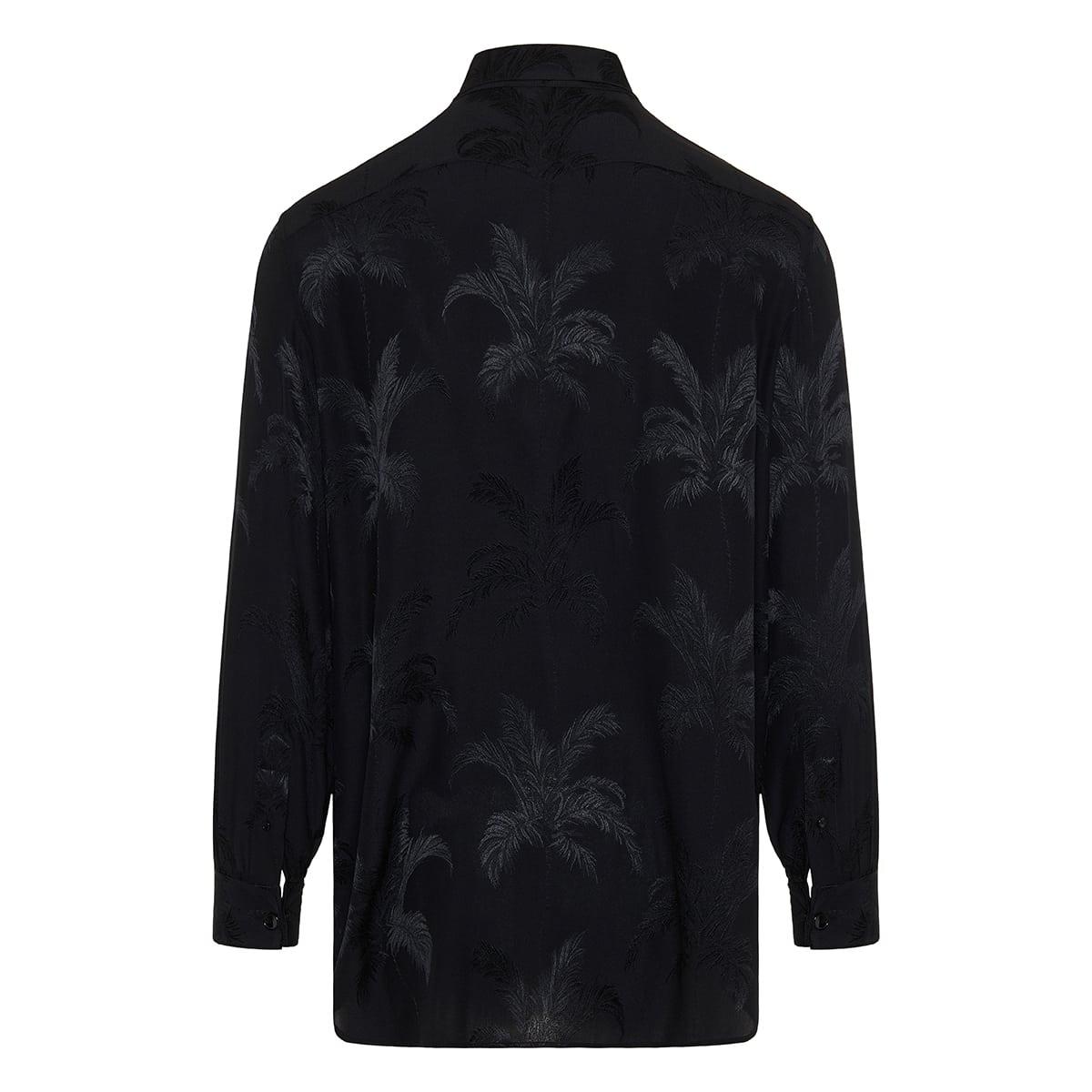 Palm jacquard silk shirt