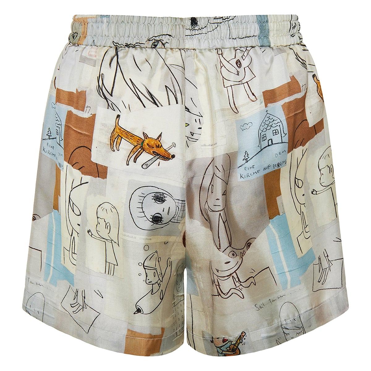 x Yoshimoto Nara Timothy printed shorts