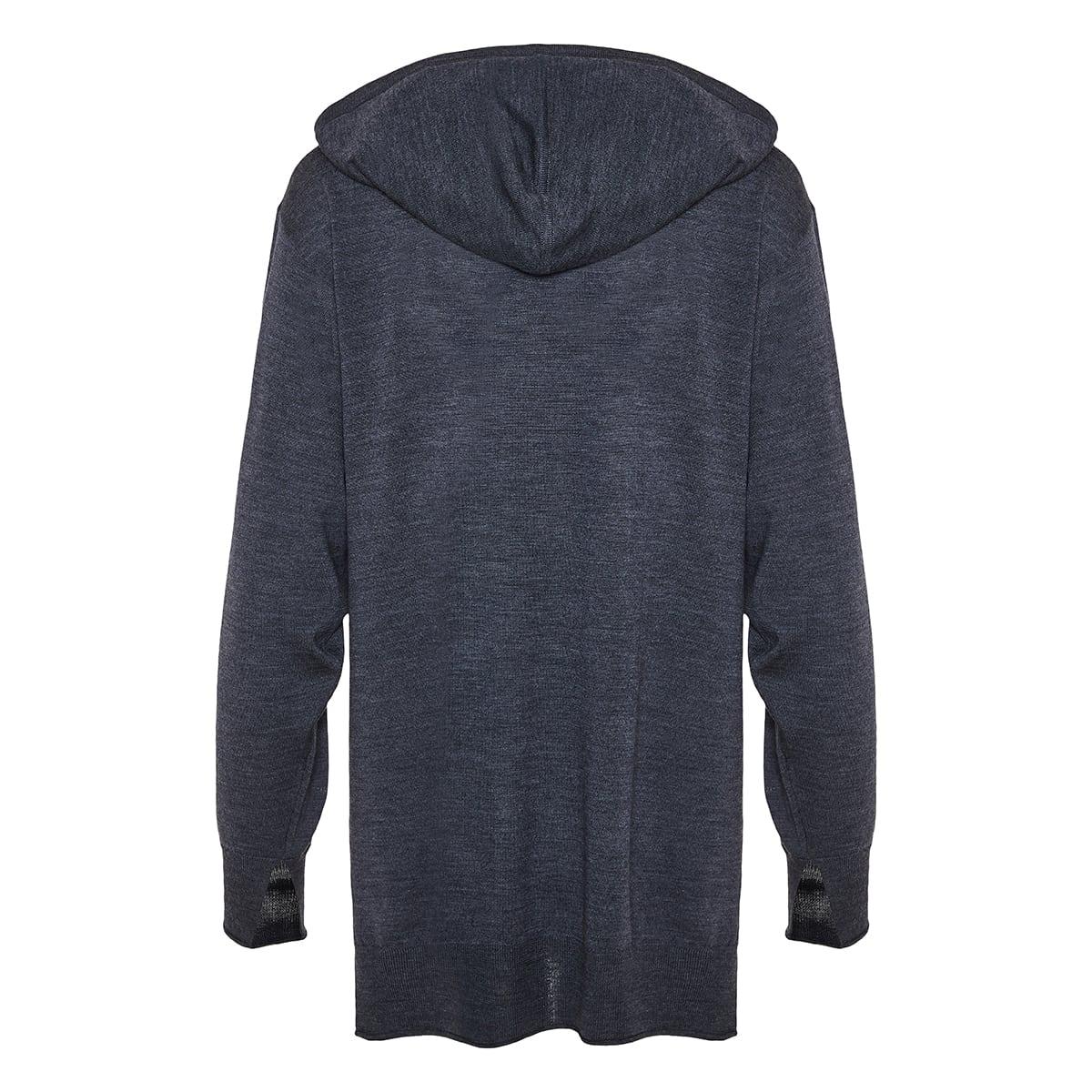 Oversized wool hoodie