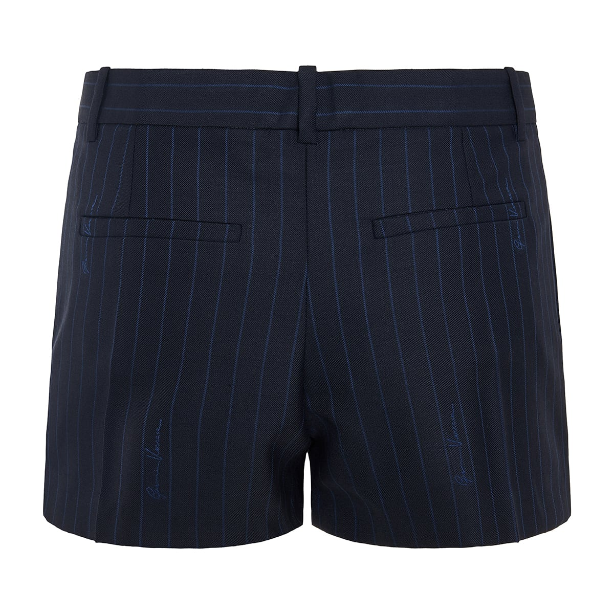 Pinstripe mini shorts