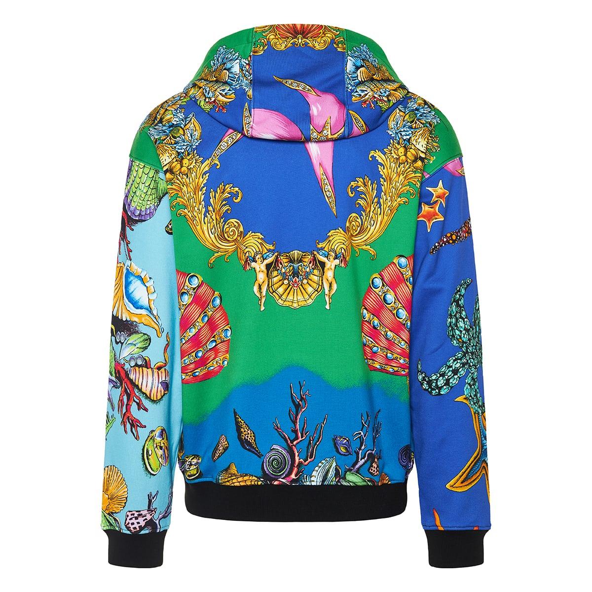 Trésor de la Mer printed zip hoodie