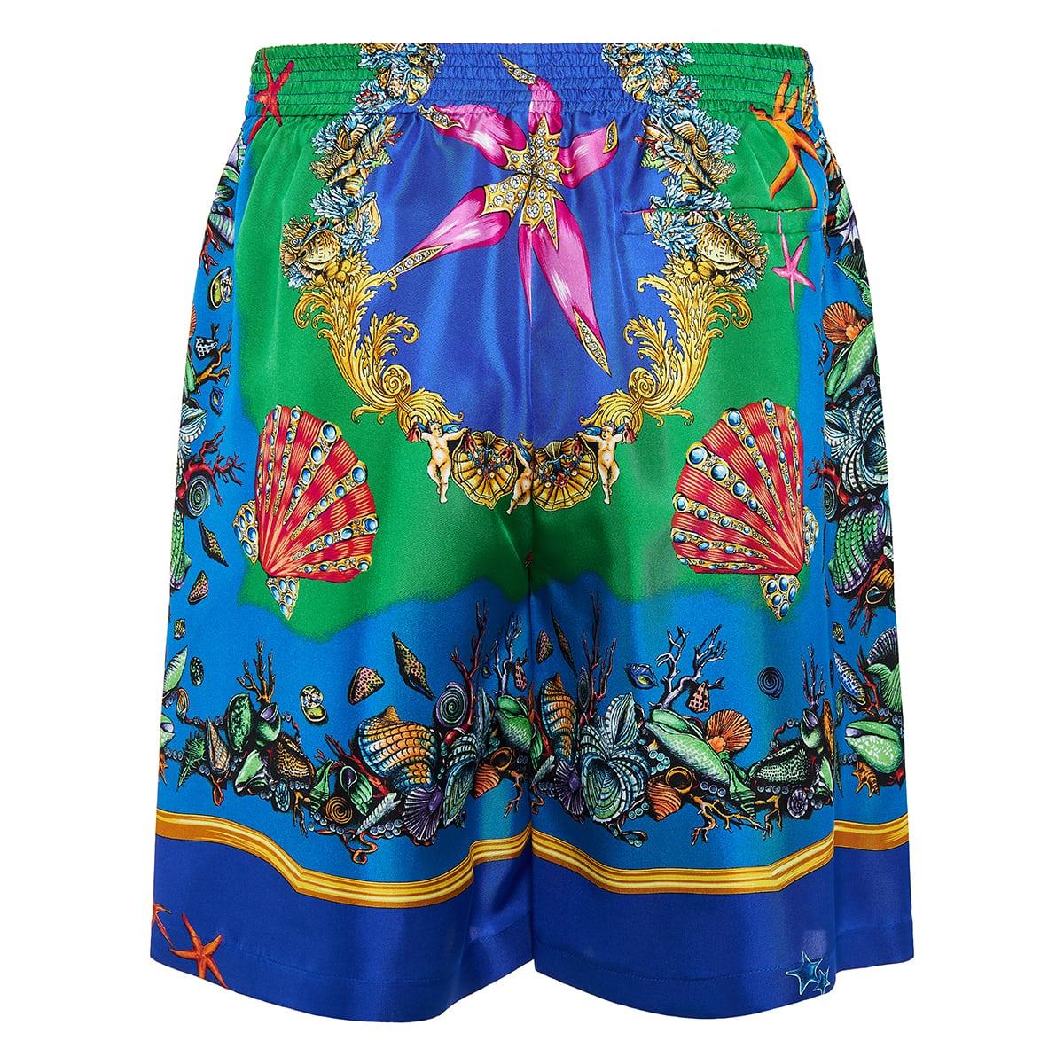 Trésor de la Mer printed silk shorts