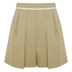 Ariel pleated wool shorts