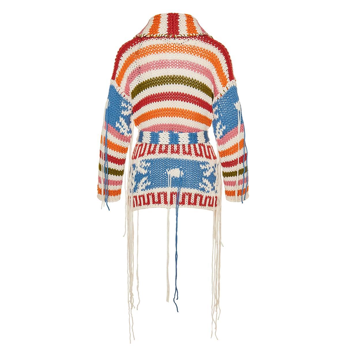 Amarillo oversized jacquard cardigan