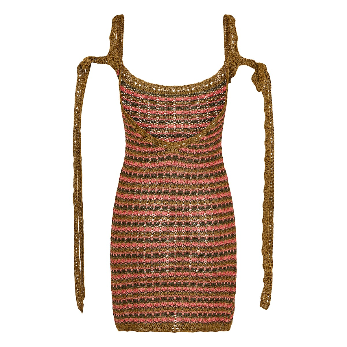 Desert Summer crochet-knit mini dress