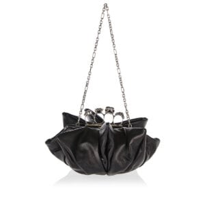 Four Ring Skull Flower clutch