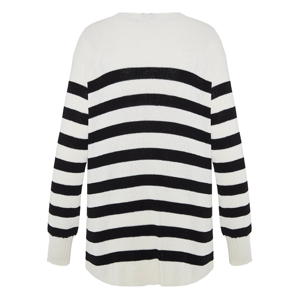 Logo-patch striped sweater