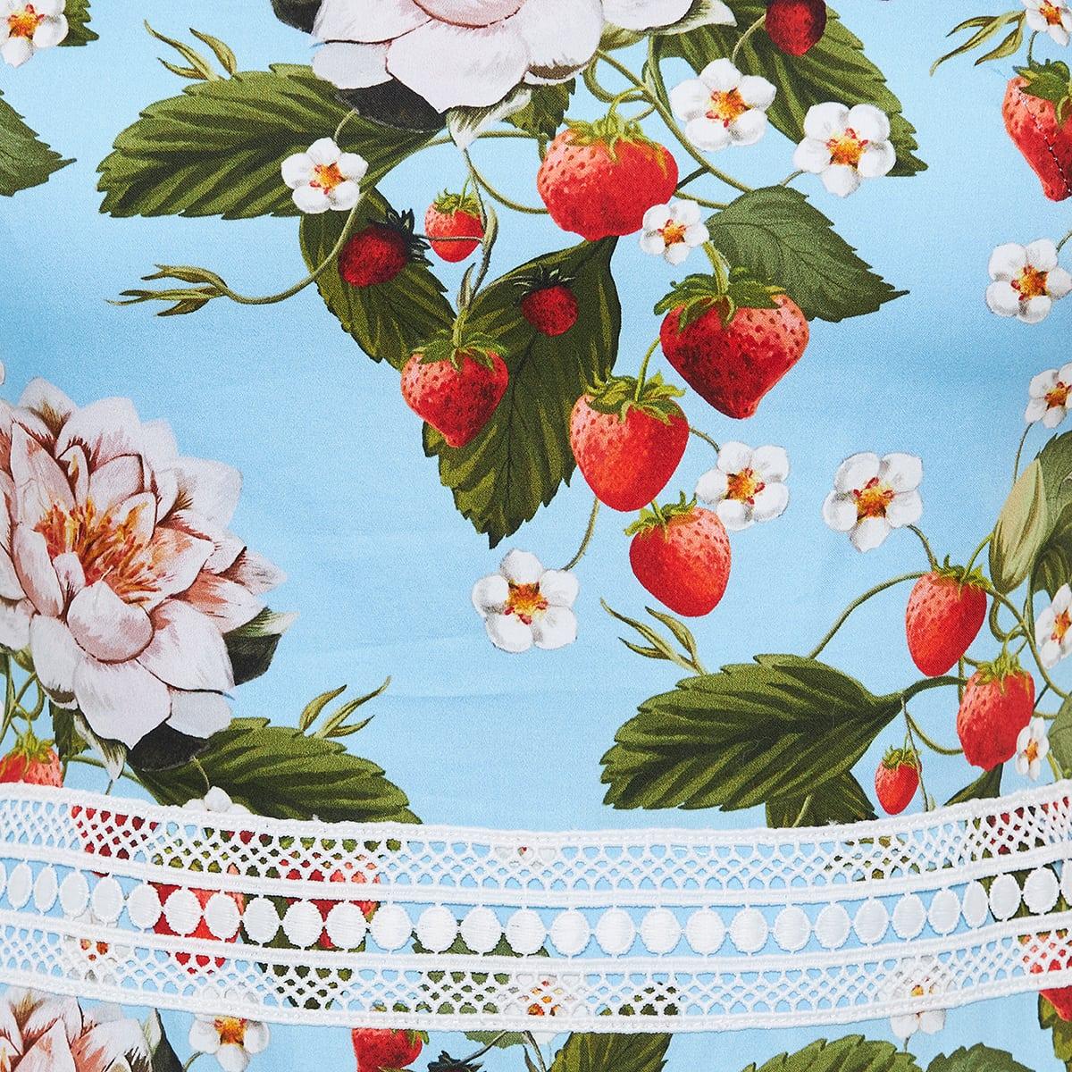 Cordiela lace-paneled printed midi dress