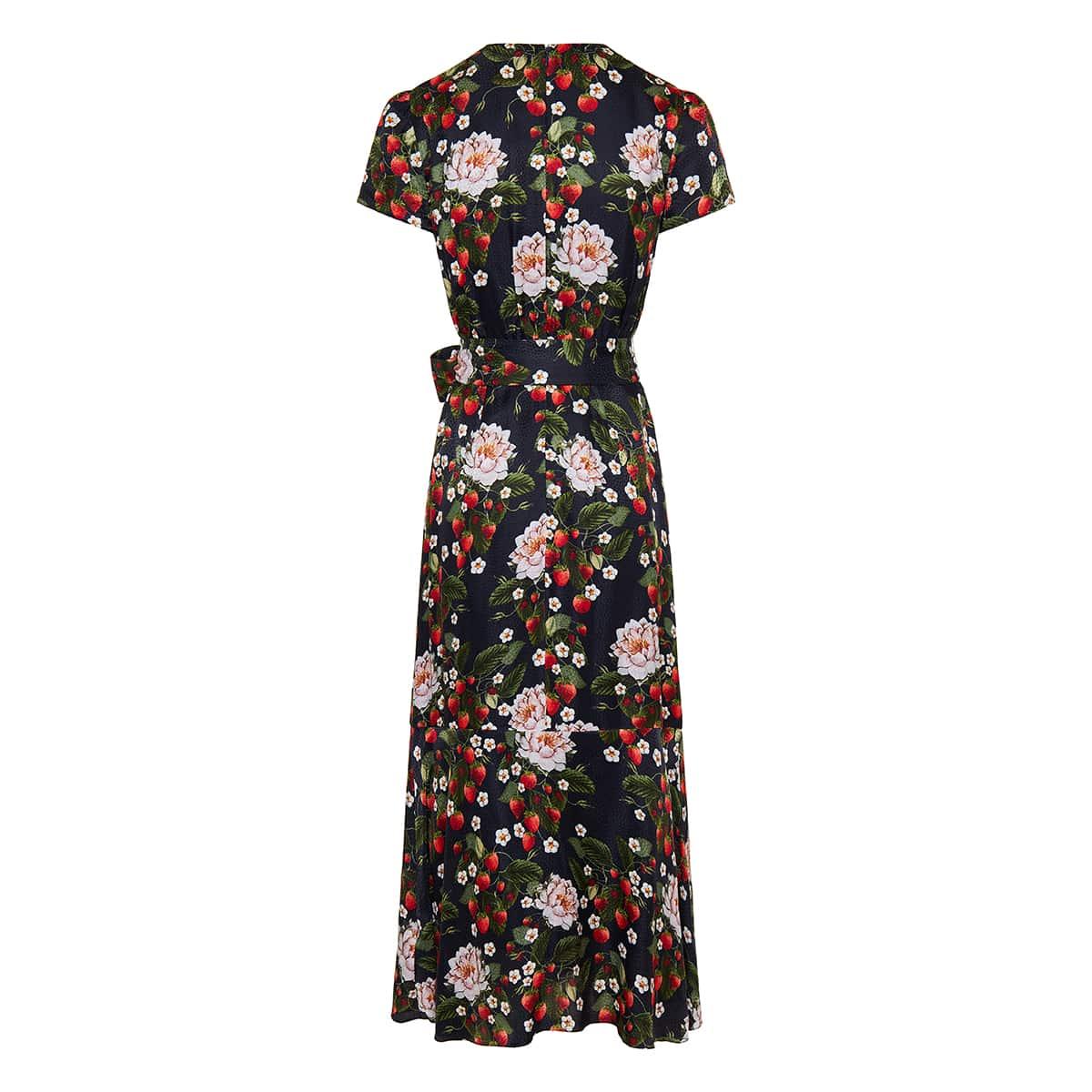 Zoe printed jacquard midi dress