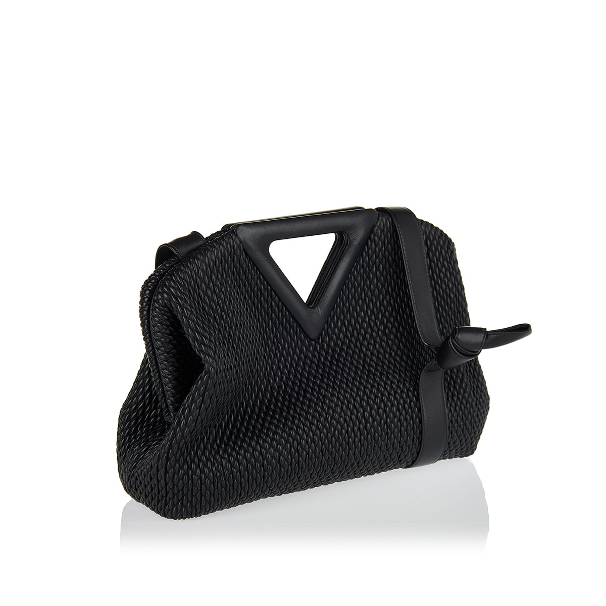 Point large quilted leather bag
