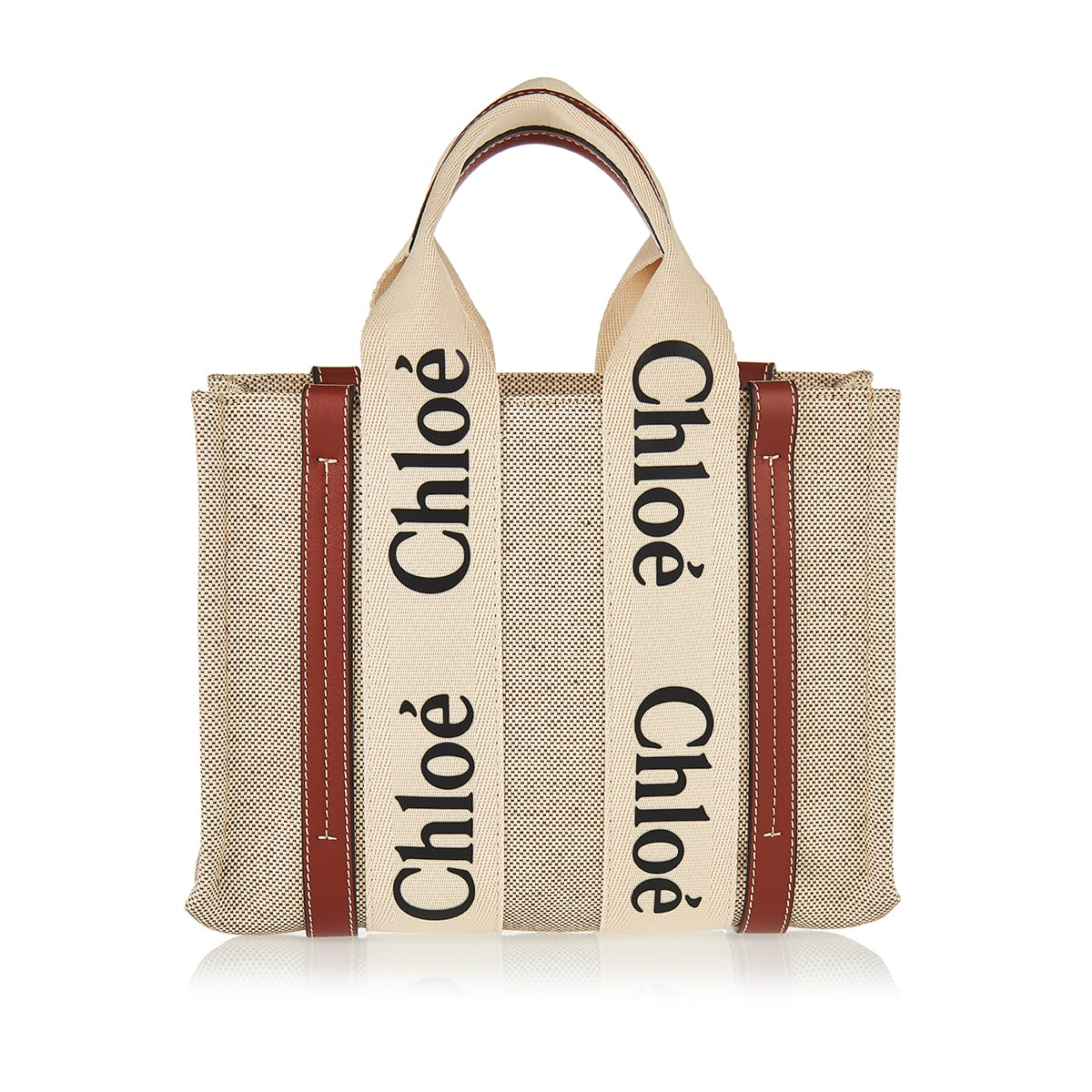 Woody small canvas tote